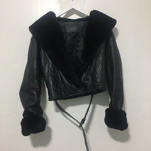Vintage / leather short jackets